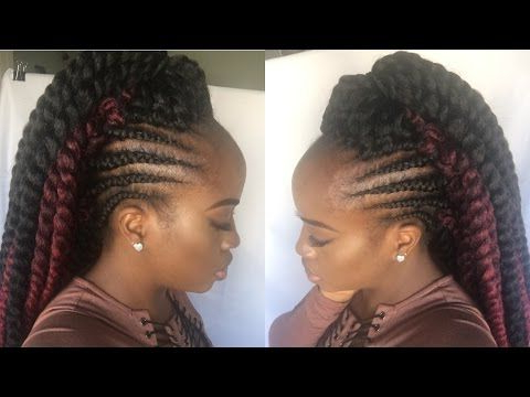 How To Crochet Havana Mambo Twist With Faux Tapered Sides Inside Latest Crochet Mohawk Twists Micro Braid Hairstyles (View 7 of 25)