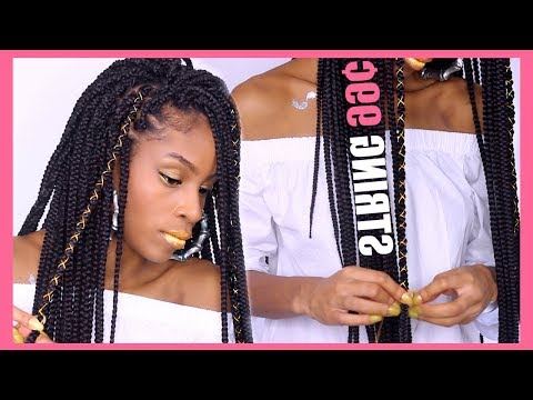 How To Decorate Braids With Gold Yarn String/thread – Youtube Within Most Current Kanekalon Braids With Golden Beads (View 11 of 25)