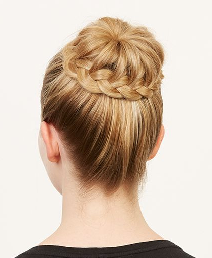 How To Do A Braided Ballerina Bun — The Cool Girl Way | Hair With Newest Braided Ballerina Bun Hairstyles (View 9 of 25)