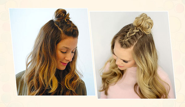 How To Do A Mohawk Braid Top Knot Hairstyle | Bebeautiful Throughout Most Recently Braided Topknot Hairstyles With Beads (View 8 of 25)