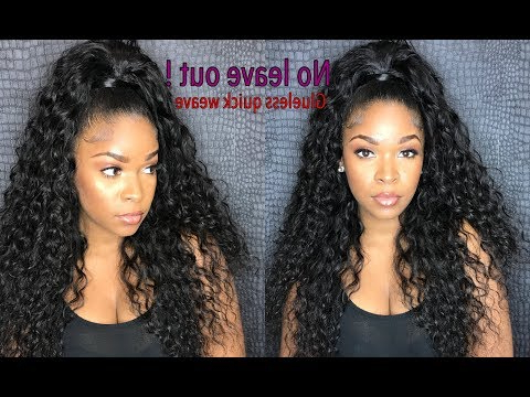 How To Do Half Up/down Glue Less Quick Weave With No Leave In Recent High Half Up Bun Invisible Braids (View 20 of 25)