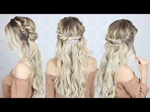 How To: Double Twist Crown Braid | Easy & Simple – Youtube Pertaining To Most Recently Double Crown Updo Braided Hairstyles (View 21 of 25)