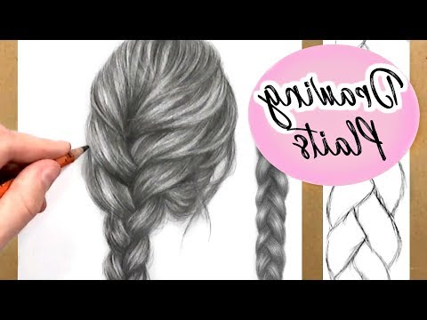 How To Draw A Plait / Braid: Hair Drawing Tutorial   Step Pertaining To Recent Mermaid Inception Braid Hairstyles (View 21 of 25)
