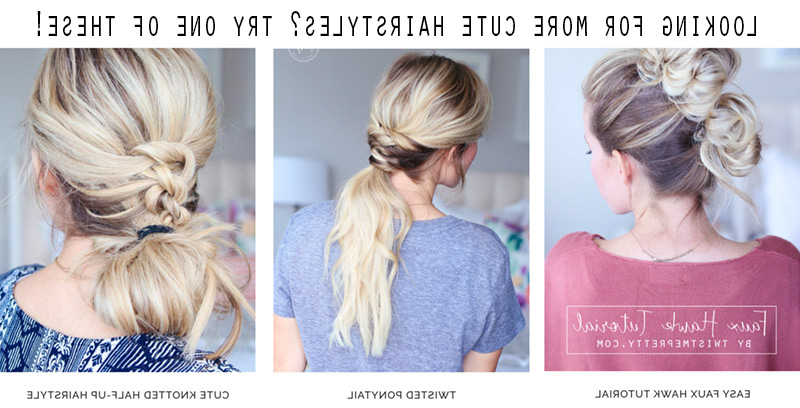How To French Braid Into A Top Knot – Twist Me Pretty Within Recent Topknot Ponytail Braided Hairstyles (View 21 of 25)