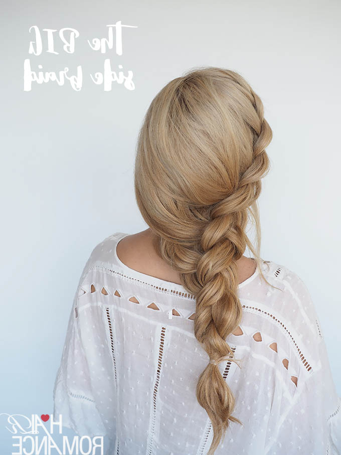 How To Style A Big Side Braid + Instant Mermaid Hair – Hair Within 2018 Over The Shoulder Mermaid Braid Hairstyles (View 7 of 25)