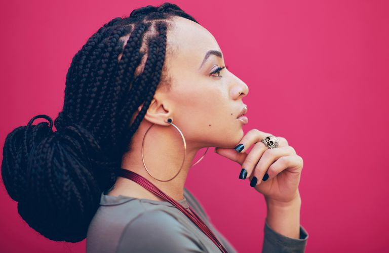 How To Style And Care For Box Braids For Black Hair Regarding Most Popular Wrap Around Triangular Braided Hairstyles (View 25 of 25)