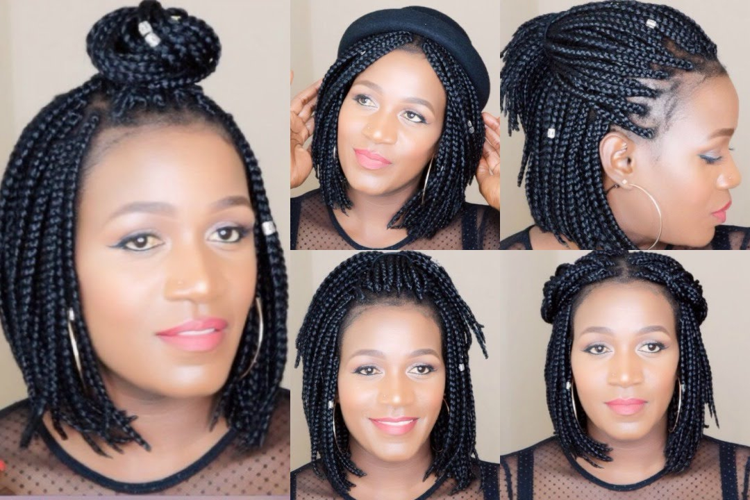 How To |Style Bob Braids Within Most Popular Bob Braid Hairstyles With A Bun (View 8 of 25)
