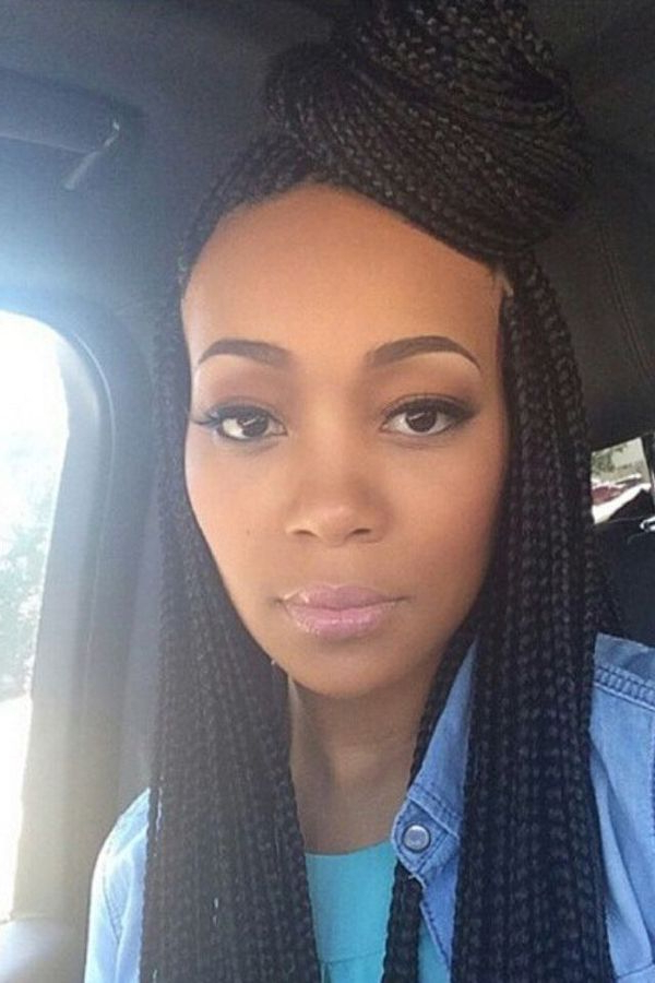 How To Style Box Braids: 50 Stunning Ideas From Pinterest Pertaining To 2018 Wide Crown Braided Hairstyles With A Twist (View 14 of 25)
