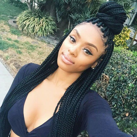 How To Take Care Of Your Box Braids – (Hair Tips) In Most Current Box Braided Bun Hairstyles (View 23 of 25)