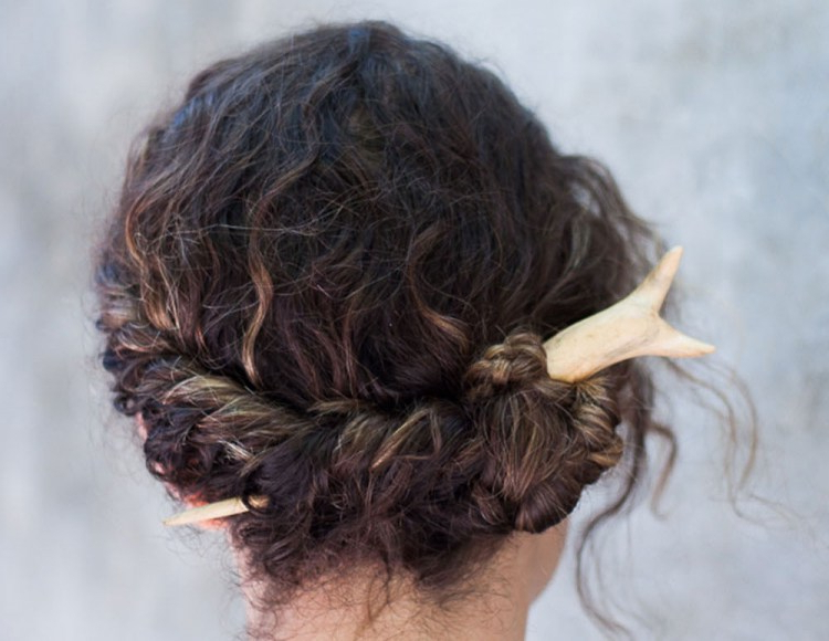How To Use A Hair Stick? Hair Stick, Hair Fork And Hair Pin Regarding Recent Loose Twist Hairstyles With Hair Wrap (View 12 of 25)
