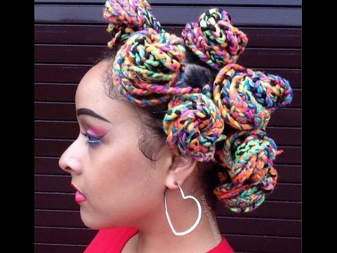 How To Yarn Braid 101/ Rainbow Braids / Bold Protective Style For Most Popular Colorful Yarn Braid Hairstyles (View 16 of 25)