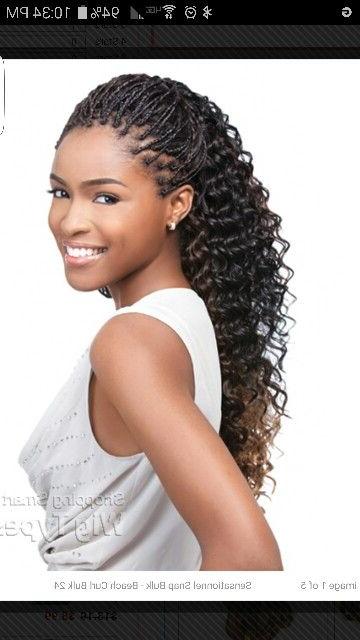 Human Hair Individual Braids | Braided Life | Micro Braids Pertaining To Latest Curly Crochet Micro Braid Hairstyles (View 4 of 25)