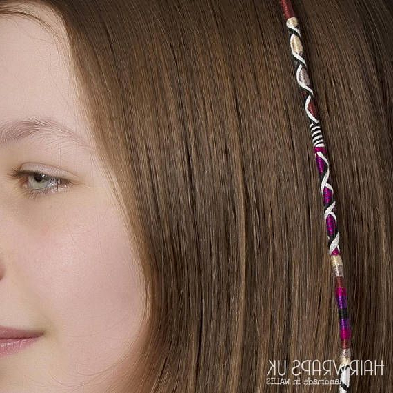 Indulgence Hair Wrap / Hair Braid,hairwraps Uk – Brown In Most Recent Braided Hairstyles With Beads And Wraps (View 3 of 25)