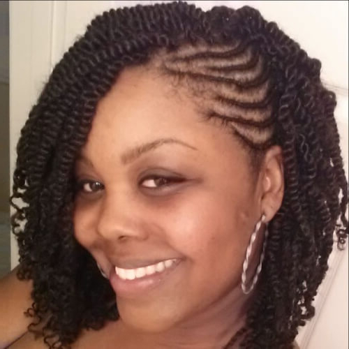 Kinky Twists For African American Women: 50 Outgoing Ideas Inside Most Up To Date Side Swept Twists Micro Braids With Beads (View 6 of 25)