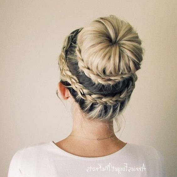 Lace Dutch Crown Braid With Ballerina Bun – The Cutest With Most Popular Braided Ballerina Bun Hairstyles (View 7 of 25)