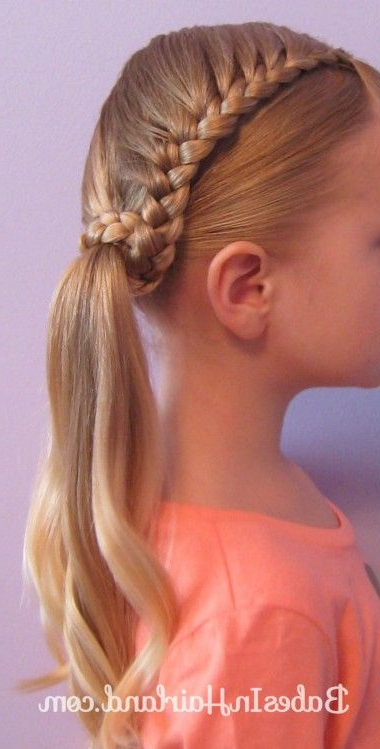 Lauren Conrad Inspired – Half French Braid Wrapped Ponytail Pertaining To Recent Wrapped Ponytail Braid Hairstyles (View 7 of 25)