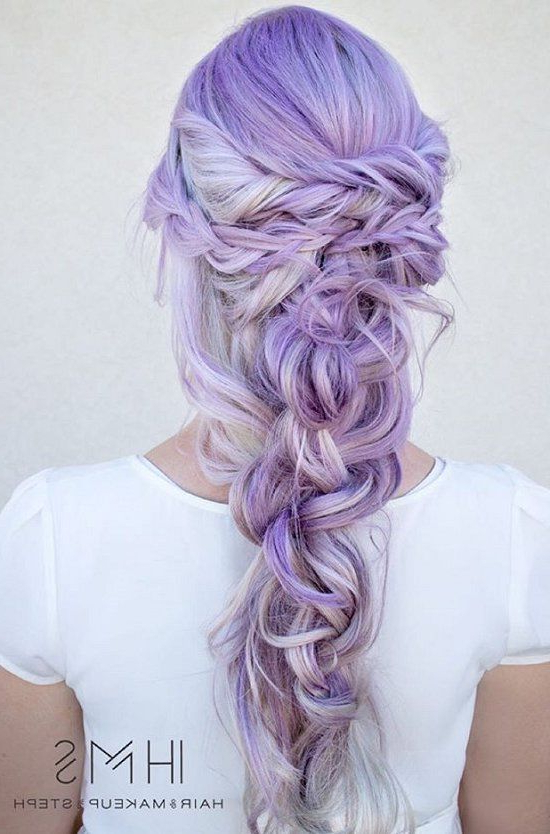 Lavender Wrapped Fishtail Braid Pictures, Photos, And Images With Regard To Latest Wrapping Fishtail Braided Hairstyles (View 13 of 25)
