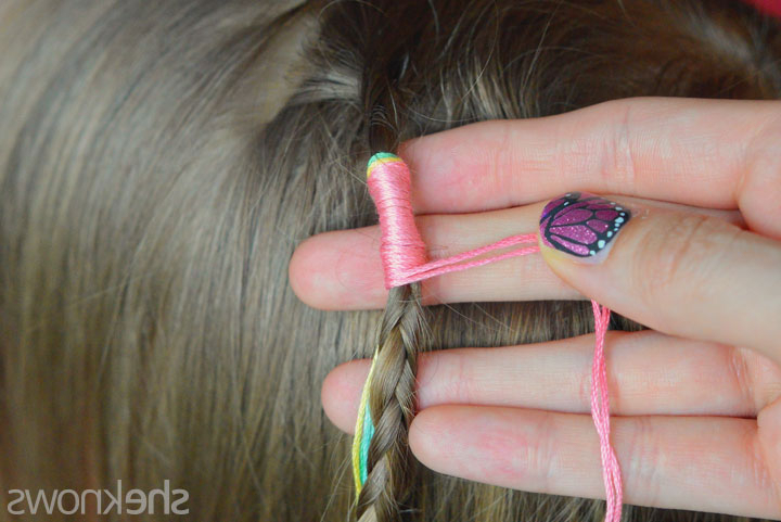Learn To Make Your Own Hair Wraps For Summer – Sheknows With Most Recently Braided Hairstyles With Beads And Wraps (View 14 of 25)