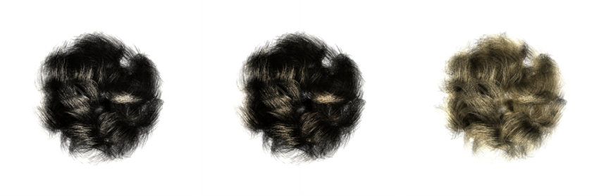 Left: Blond Hair Strand Rendered With Our Near Field Model In Most Recently Low Haloed Braided Hairstyles (View 19 of 25)