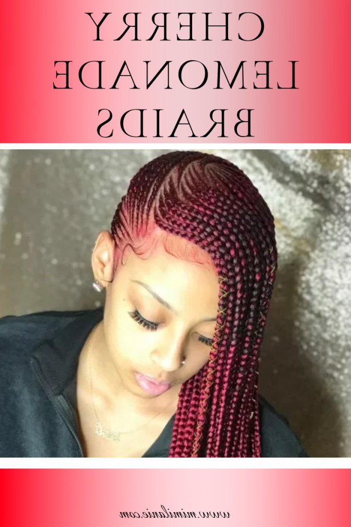 Lemonade Braids Hairstyles 2019 With Picture – Mimilanie Inside Latest Cherry Lemonade Braided Hairstyles (View 10 of 25)