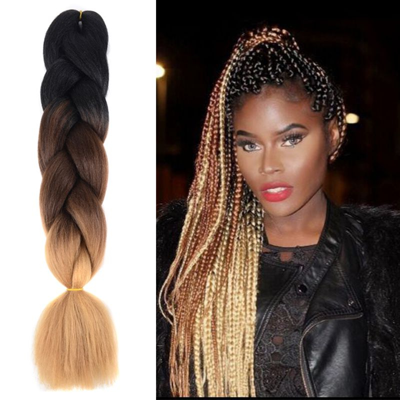Lingxiu Synthetic Jumbo Braiding Hair(Black Dark Brown Light Throughout Most Up To Date Light Brown Braid Hairstyles (View 2 of 25)