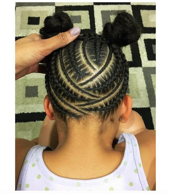 Little Black Girl Hairstyles | 30 Stunning Kids Hairstyles In 2018 Minnie Mouse Buns Braid Hairstyles (View 16 of 25)