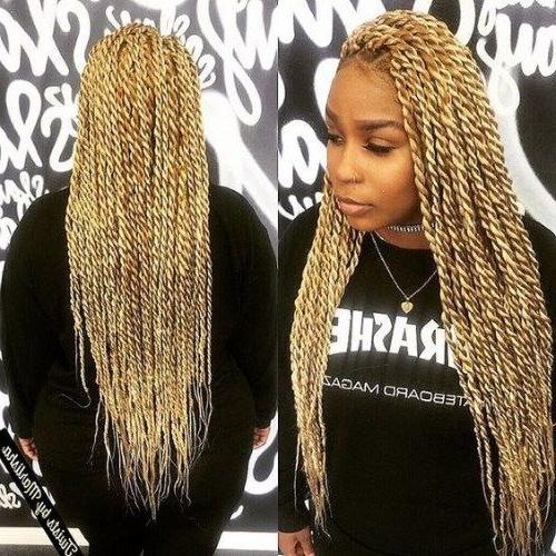 Long Blonde Twist Braids | Hellathick2082 In 2019 | Twist For Best And Newest Blonde Braid Hairstyles (View 18 of 25)
