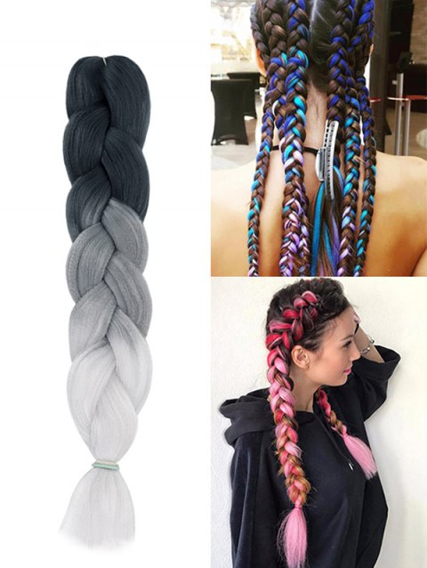 Long Ombre Big Braid Hair Extension With Most Recently Multicolored Extension Braid Hairstyles (View 9 of 25)