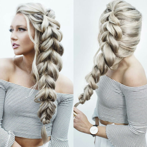Long Thick Blonde Braid Pictures, Photos, And Images For For Most Current Long Blonde Braid Hairstyles (View 7 of 25)