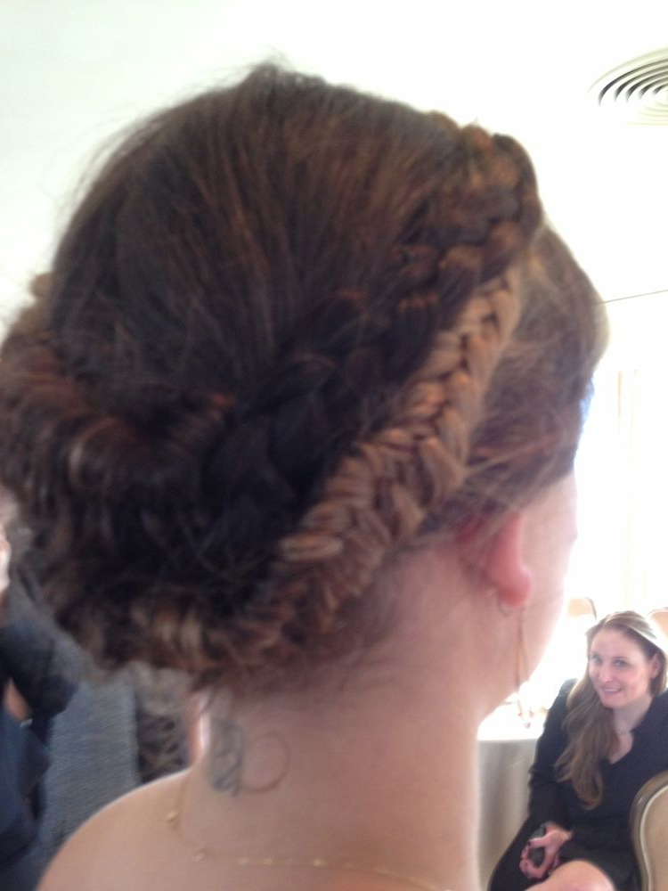 Lunch With Miss Golden Globe 2014, Sosie Bacon   Melissa In Most Recent Secured Wrapping Braided Hairstyles (View 5 of 25)