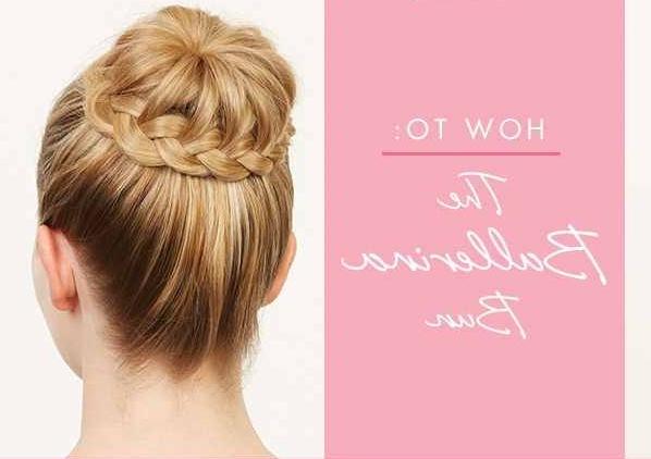 Make A Braided Ballerina Bun – Alldaychic Within Most Recently Braided Ballerina Bun Hairstyles (View 3 of 25)