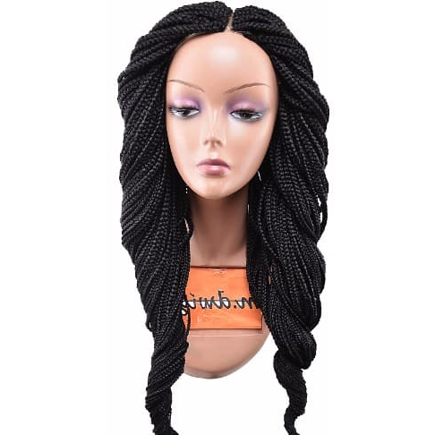 Medium Sized Box Braid Wig – Waist Length – Color 1 Pertaining To Latest Black Shoulder Length Braids With Accents (View 14 of 25)