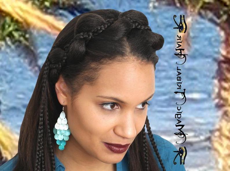 Mermaid Braid Headband Braided Custom Color Hair Piece Bride Wedding Hair Accessory Fantasy Larp Cosplay Hair Jewelry Bridal Tiara Headpiece Throughout Most Recently Mermaid'S Hairpiece Braid Hairstyles (View 19 of 25)