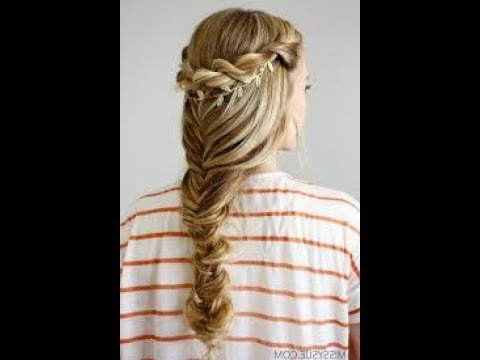 Mermaid Fishtail Braid With Twist For Eid Easy Tutorial 2017 Throughout Most Up To Date Twisted Mermaid Braid Hairstyles (View 16 of 25)