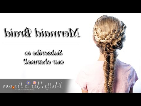 Mermaid Fishtail Combo Braid Inside Latest Mermaid Braid Hairstyles With A Fishtail (View 23 of 25)