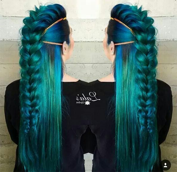 Mermaid Viking! Gorgeous! I Love The Dutch Braid Mohawk Look With Recent Braided Mermaid Mohawk Hairstyles (View 2 of 25)