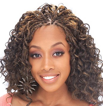 Micro Braids Hairstyles Within 2018 Micro Braid Hairstyles With Curls (View 11 of 25)