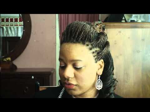 Microbraids: 1/2 Up 1/2 Down Double Hump (Bump) Hairstyle Final Throughout Most Popular Dookie Braid Bump Hairstyles (View 18 of 25)