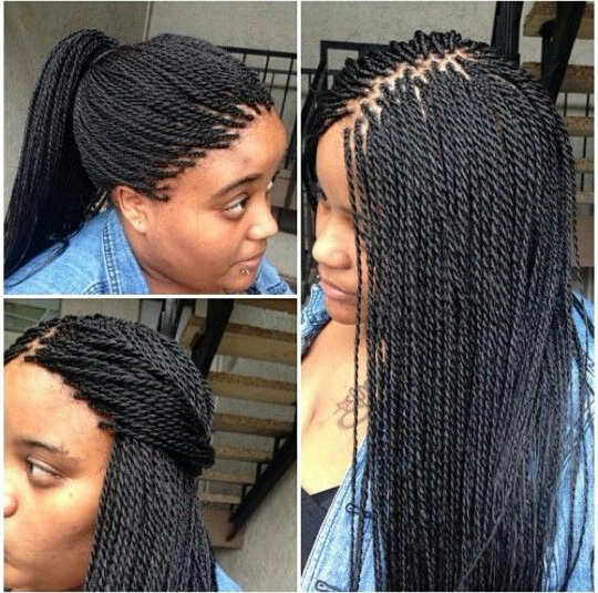 Microtwist | Hair | Braids, African Braids Hairstyles, Hair Inside Best And Newest Micro Twist Ponytail Hairstyles (View 22 of 25)
