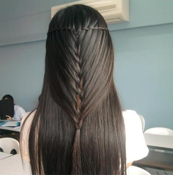 Minimal Waterfall Twist And Mermaid Braid | Best Braids On Inside Most Current Waterfall Mermaid Braid Hairstyles (View 16 of 25)