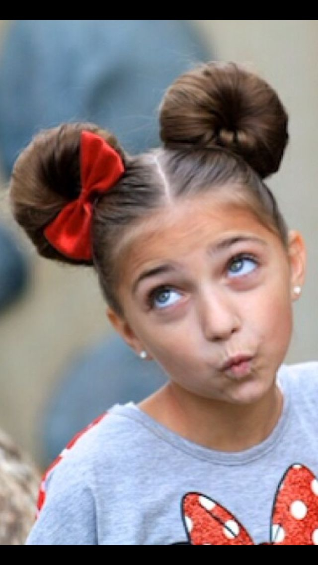 Minnie Mouse Ears Hairstyle–Adorable! | Fashion: Children's With Regard To Most Popular Minnie Mouse Buns Braid Hairstyles (View 4 of 25)