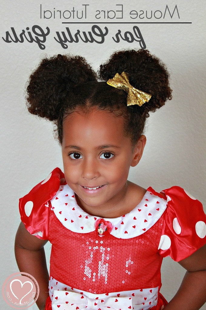 Minnie Mouse Hairstyles: Curly Buns For Little Girls Inside Newest Minnie Mouse Buns Braid Hairstyles (View 25 of 25)