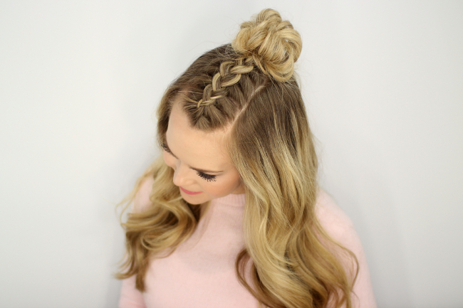 Mohawk Braid Top Knot Within Most Popular Half Up Top Knot Braid Hairstyles (View 21 of 25)