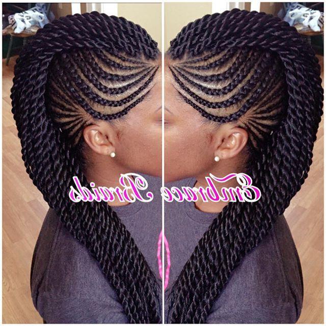 Mohawk ?? #braids #mohawk #braidedmohawk #scalpbraids Regarding Latest Mohawk Under Braid Hairstyles (View 3 of 25)