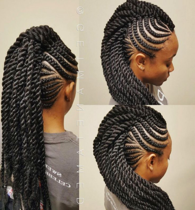 Mohawk Hairstyles Braids (92+ Images In Collection) Page 2 Inside Best And Newest Mohawk Under Braid Hairstyles (View 25 of 25)