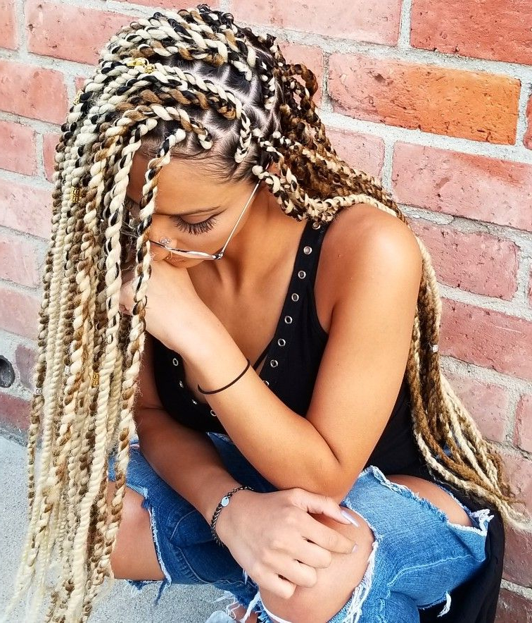 Multicolored Twists Extensions Hair By: U (View 17 of 25)