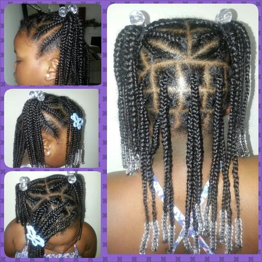 Natural Girls Style Pigtails Cornrows Box Braids And Beads With Regard To Current Beaded Pigtails Braided Hairstyles (View 3 of 25)