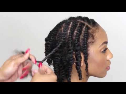 Natural Hair Tutorial- How To Do A Two Strand Twist throughout Current Updo Hairstyles With 2-Strand Braid And Curls