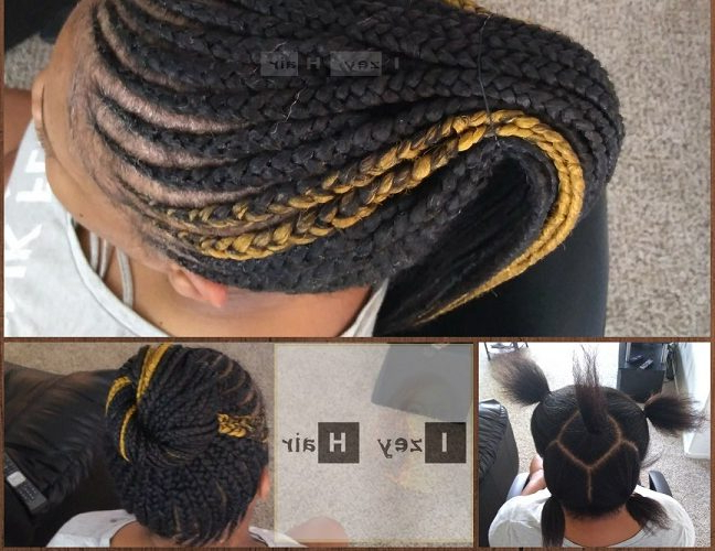 New Feed-In Braid (Cornrow) Style Photo - Colors Are 1B (Off within 2018 Colorful Cornrows Under Braid Hairstyles