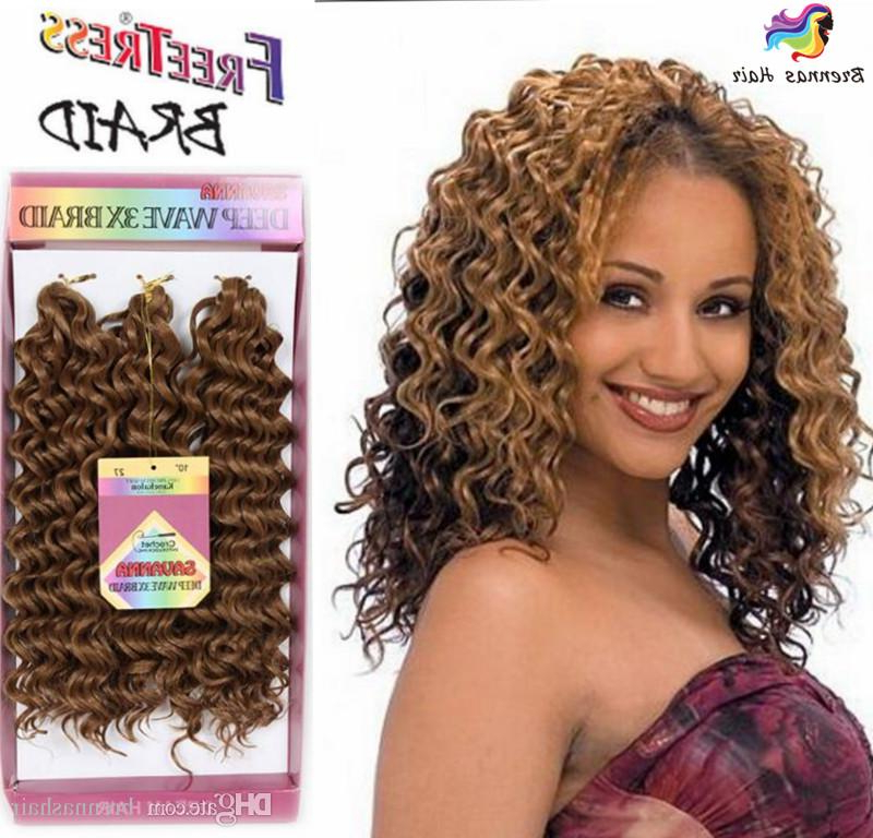 New Style Freetress Deep Wave Twist Crochet Braiding Hair Ombre Color Curly Synthetic Hair Extensions 3X Crochet Jerry Curl Hair Wave Twist for Recent Zebra Twists Micro Braid Hairstyles